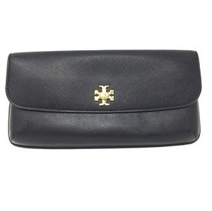 NWOT Tory Burch Black Diana Slim Clutch